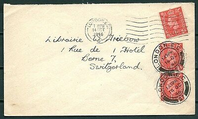 Gb 1946 Cover London To Switzerland, Nice Stamps & Postmarks -Cag 260916