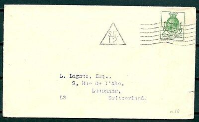 Gb 1929 Cover London To Switzerland, Postal Union Congress Stamp -Cag 260916