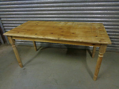 Rectangular Pine Dining Table Collapsible Removable Legs Large Farmhouse Country