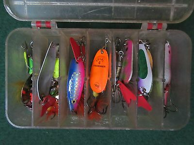 19 Spinners for perch pike zander in tackle box