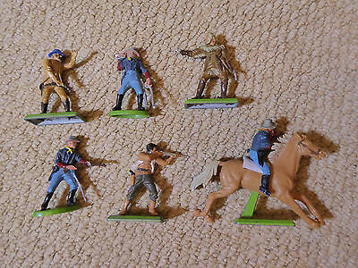 Britains Deetail Vintage 1971 Cowboys and US Cavalry