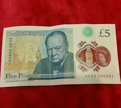 New collectable 5 pound note AA23 serie.