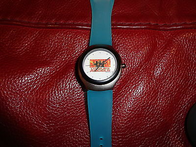 CHARLIE'S ANGELS movie unisex wristwatch with aqua coloured band