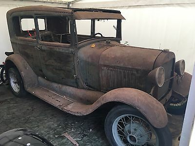 1928 Ford model A two door sedan ratrod hotrod