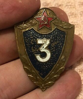 Soviet Russia Russian Red Army metal enameled 3rd class badge - Original