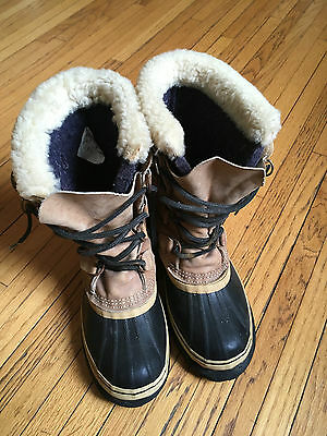 REAL Kaufman Sorel Caribou Winter Boots- Made in Canada. Men's Size 7. Vintage.