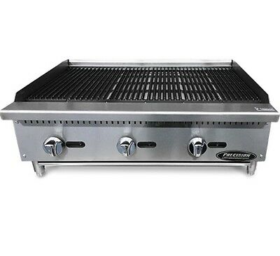 "Char Broiler 36"" Char Grill Charbroiler Radiant Natural Or LP NEW 3' Charcoal"