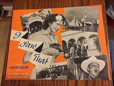 """1939 San Francisco Bay Worlds Fair Camera Picture Album Booklet """"I Saw That"""""""