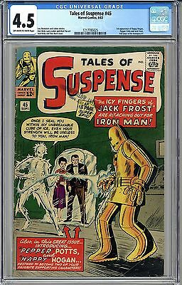 TALES OF SUSPENSE #45 CGC 4.5 FREE SHIPPING 1st Happy Hogan, Pepper Potts