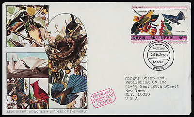 Nevis 411 on FDC Birds, Insects