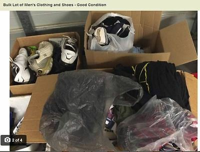 Bulk Lot of Men's Clothing and Shoes - Good Condition