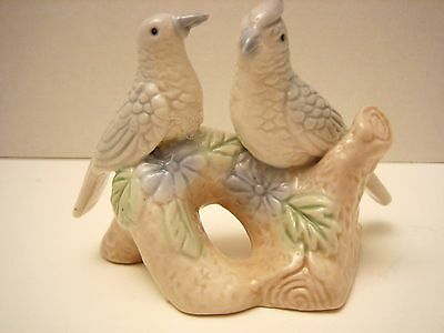 Birds On Branch Porcelain Figurine