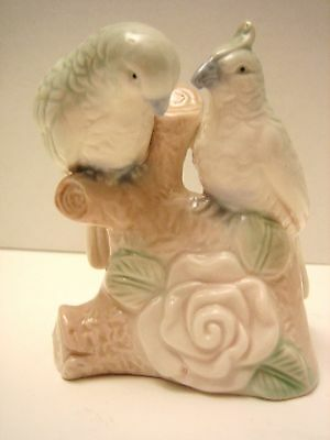 Birds On Branch With Rose Porcelain Figurine