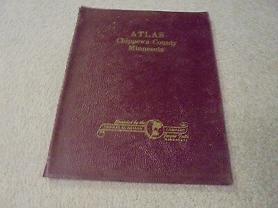 Vintage 1964 Chippewa County Minnesota Atlas Plat Book Minn. MN Montevideo