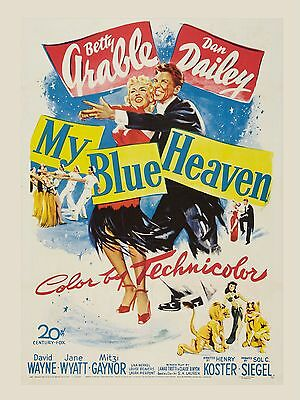 """My Blue Heaven 16"""" x 12"""" Reproduction Movie Poster Photograph"""