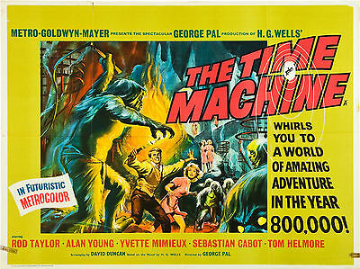 """The Time Machine 1960 16"""" x 12"""" Reproduction Movie Poster Photograph"""