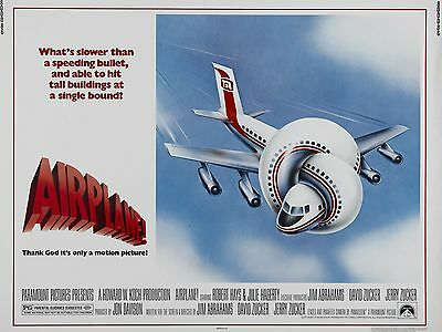 """Airplane 16"""" x 12"""" Reproduction Movie Poster Photograph"""