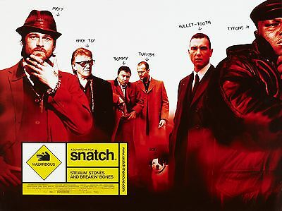 "Snatch 2000 16"" x 12"" Reproduction Movie Poster Photograph"