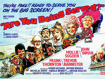 """Are you being served 1977 16"""" x 12"""" Reproduction Movie Poster Photograph"""