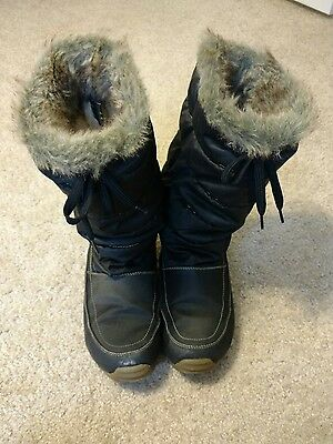 Naturalizer Black Winter Snow Boots Women's Size 9 M #7141