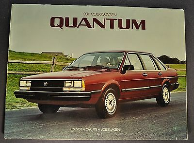 1984 Volkswagen Quantum Catalog Sales Brochure Excellent Original 84 VW