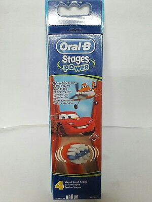 Oral B Stages Power Cars 4 Electric Replacement Toothbrush Heads *bargain*