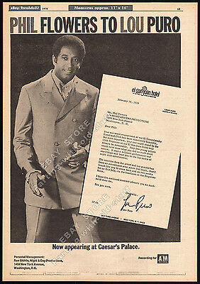 PHIL FLOWERS__Original 1970 Trade AD publicity promo / poster / open-letter ad
