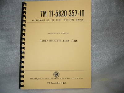 Collins R-390 Receiver Operators Manual Reprint Not R390A With Changes C1-C5
