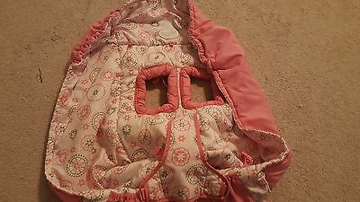 COMFORT & HARMONY Infant Girl Pink Grocery cart Shopping Care cover EUC
