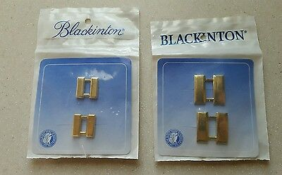 Two sets Police Blackinton Gold-toned Large and Small Captain Bars