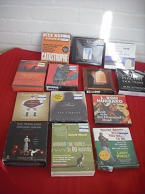 Lot of 13 Audiobooks on CD:  10 are Brand New + 3 are Used Most are Nonfiction