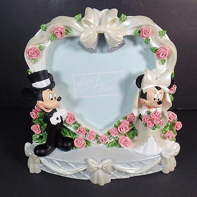 Wedding Picture Frame Mickey Mouse and Minnie Mouse Marriage Photo Disney