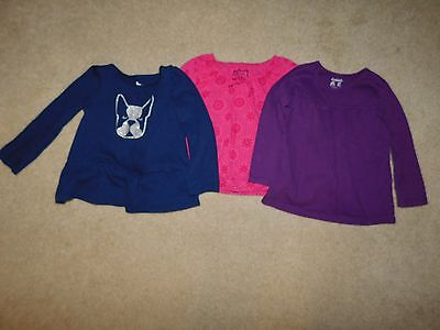 Girls Lot of 3 Long Sleeve Shirts Size 3T Circo, Cherokee, Garanimals