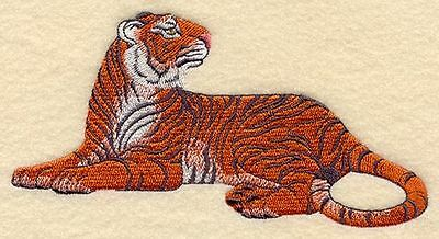 """Tiger, Wild Animal, Exotic Cat Embroidered Patch 6.8"""" x 3.7"""""""
