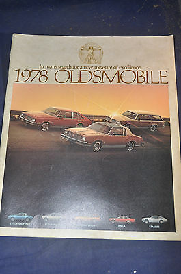 1978 Mans Search for Excellence Oldsmobile Brochure, Cutlass*Omega*Starfire*