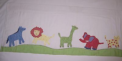"""Pre-owned Pottery Barn Kids Window Valance with Cute Appliquéd Animals 18""""X44"""""""