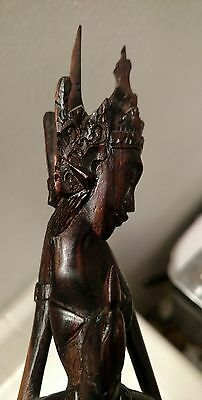 ROSEWOOD wood carved Woman Figurine Statue Female Buddhist Buddhism Antique