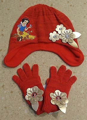 NWT Disney Store Snow White Hat and Gloves Set