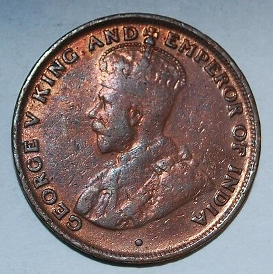 Hong Kong 1 cent 1919 h --buy $12 get free S&H+10% off over $12--229