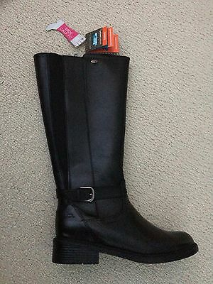 NEW Women's Black Leather Riding Boots Size 9