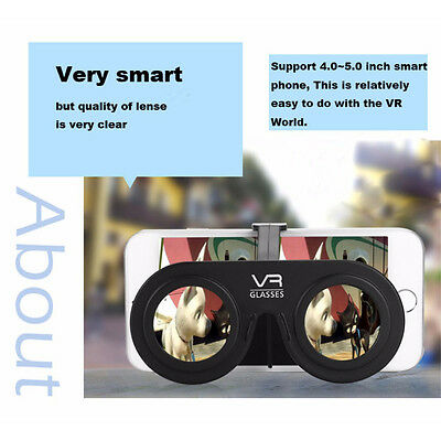 DIY 3D Virtual Reality Glasses Plastic Video VR Games Pocket for Mobile Phone