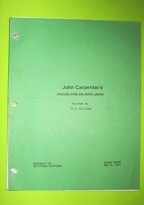 John Carpenter's Creature From The Black Lagoon Unproduced Screenplay