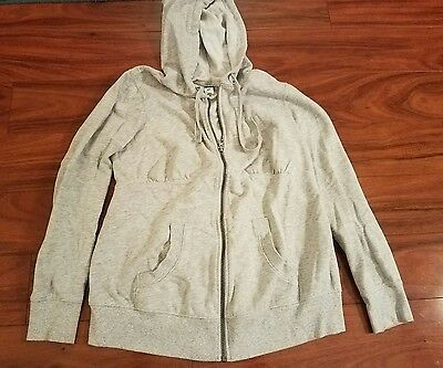 Old Navy Maternity Grey Gray Zip Hoodie Jacket Sweatshirt Size Small Athletic