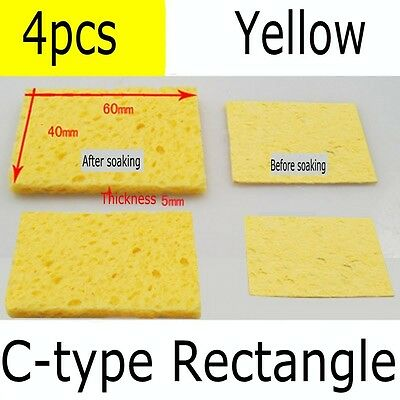 Universal Soldering Iron Tip Cleaning Sponge Welder Replacement Pad Round/Square