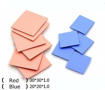 6Pcs 30*30*1.0mm + 5Pcs 20*20*1.0mm CPU Heatsink Thermal Conductive Silicone Pad
