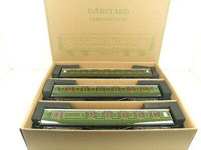 Darstaed O Gauge Southern Maunsell Corridor Coaches x3 Set A 2/3 Rail B/New Bxd