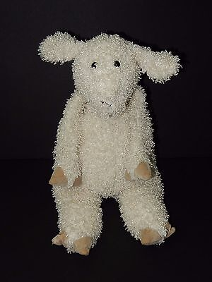 "Jellycat Bunglie Sheep Lamb Plush 17"" Cream Beige Curly Hair Suede Feet Easter"