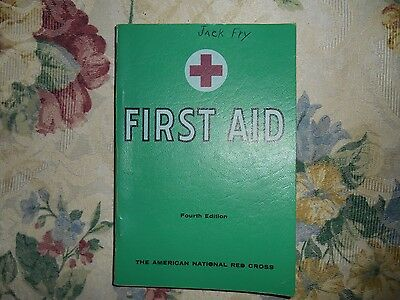 Vintage 1966 First Aid Text Book American Red Cross