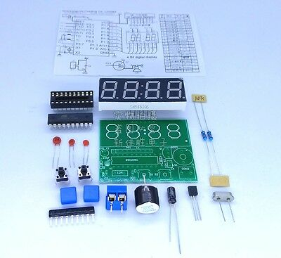 New C51 4 Bits Digital Electronic Clock Electronic Production Suite DIY Kits MC