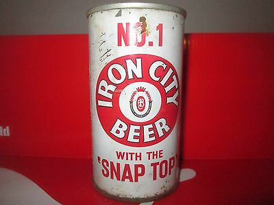 "Iron City With The ""snap Top"" 12 Oz Pull Tab Collectible Beer Can..1962"